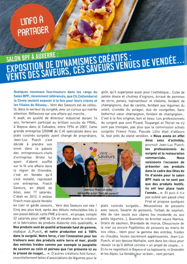 Bourgogne Produit Frais - Interview de Vent des Saveurs