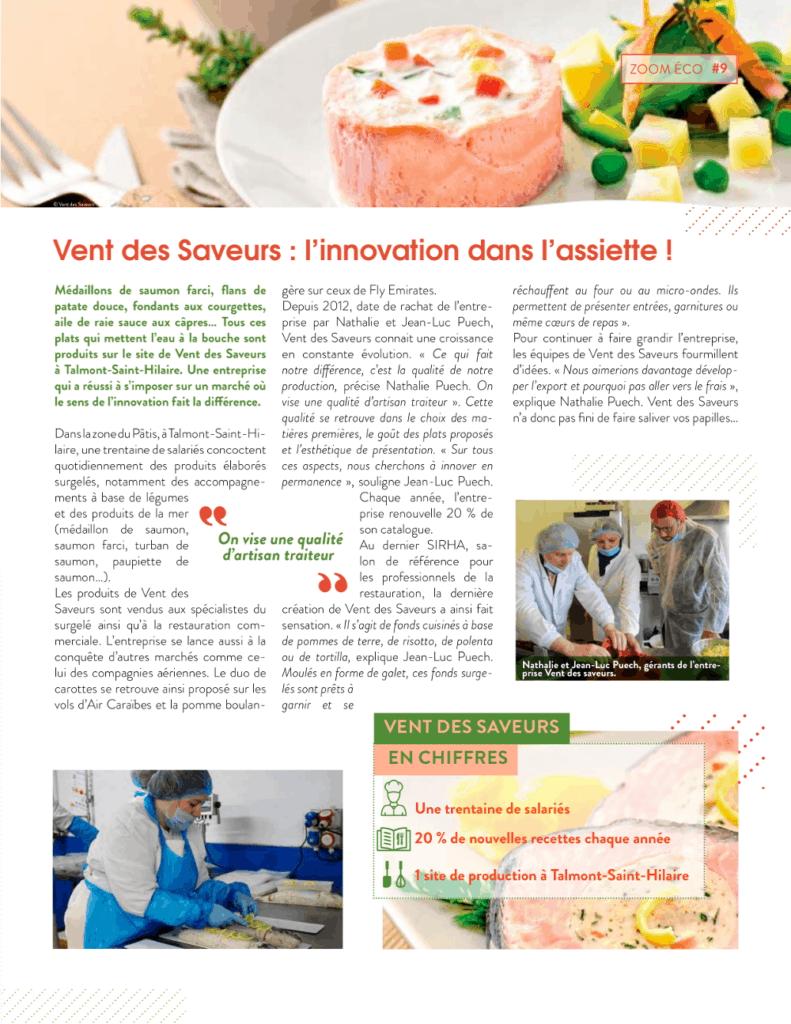 Vendée Grand Littoral - Interview de Vent des saveurs
