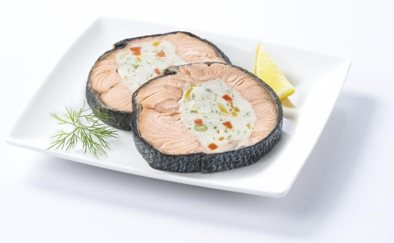 "M""daillons de saumon farci"